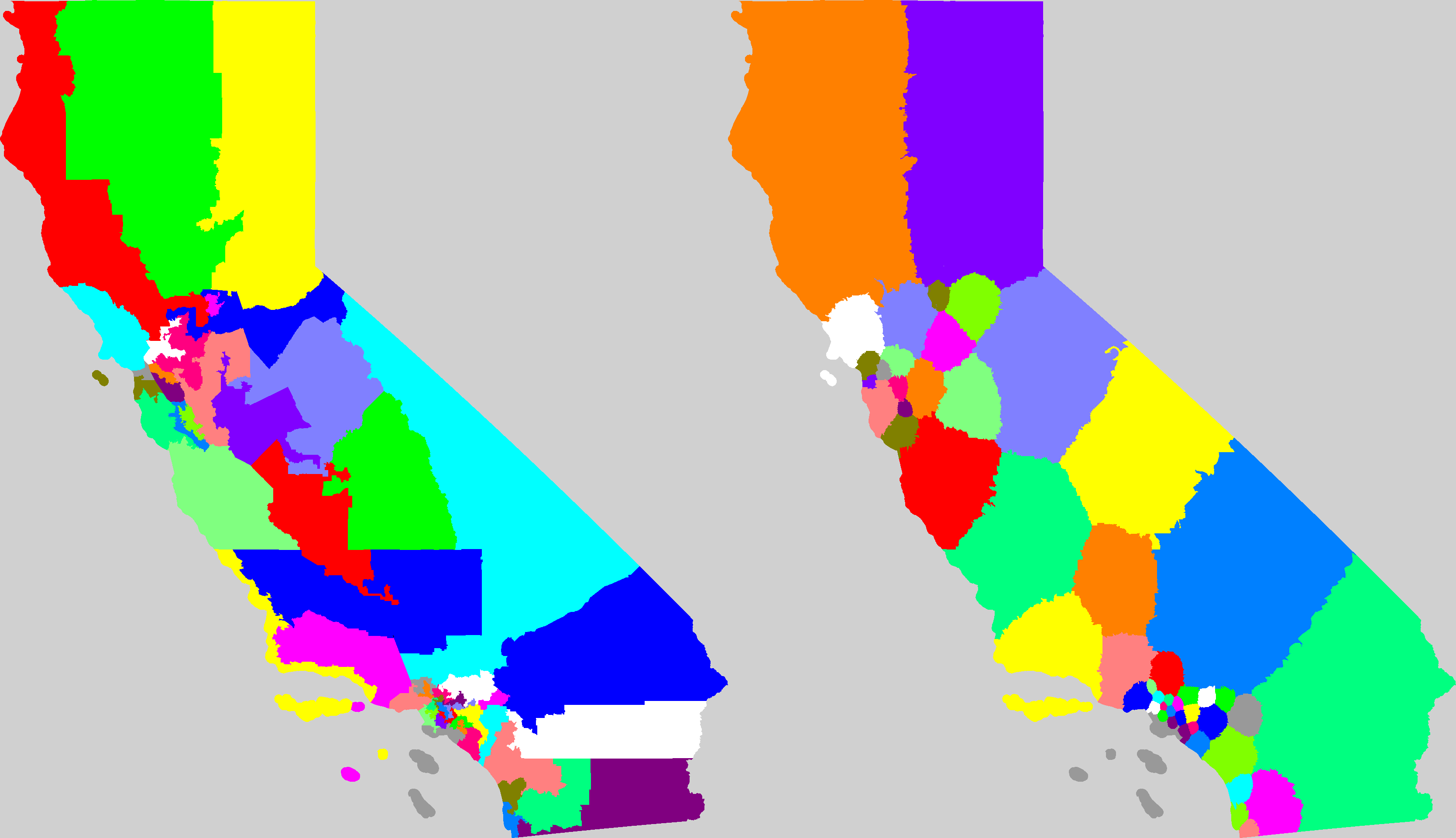 California Computer Districts